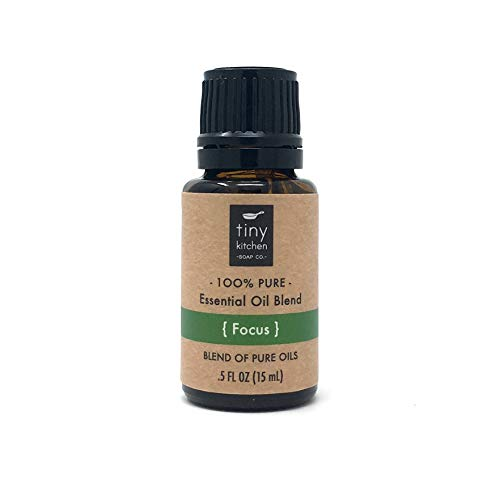 Focus - Aromatherapy Blend of Pure Undiluted Essential Oils (15 mL / .5 fl oz)