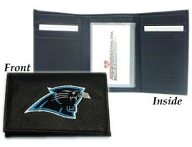 Carolina Panthers Embroidered Leather - Carolina Panthers Embroidered Leather Tri-Fold Wallet