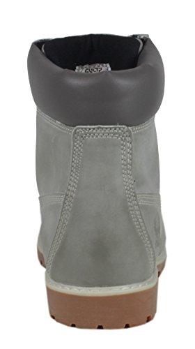 trendBOUTIQUE - Botas Chukka Mujer Gris - LederLook Grau