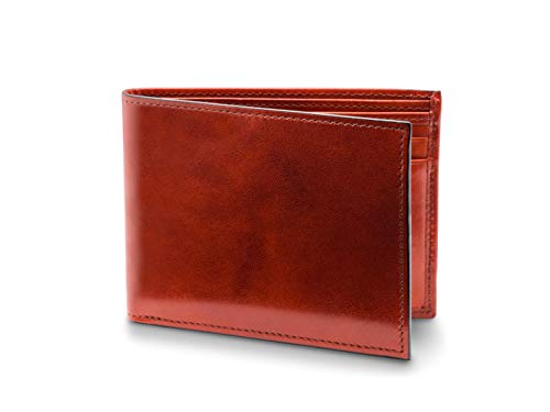 Bosca Men's Executive Wallet in Old Leather - - Cover Leather Checkbook Executive