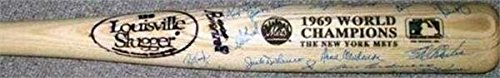 1969 New York Mets team autographed baseball bat signed by 25 Seaver Ryan Clendenon Koonce McGraw Agee Koosman World Series (1969 New York Mets Baseball)