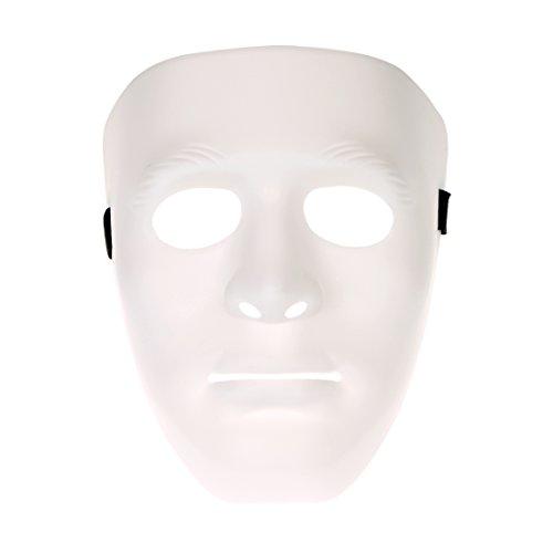 YUFENG Hiphop Jabbawockeez Masquerade Mask Halloween Cosplay Costume Party Mask (white) ()