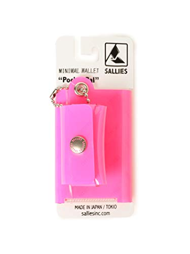 (B PR 빔스)bpr BEAMS SALLIES / Pocket Pal 미니멀 네온 지갑 LUMI PINK ONE SIZE