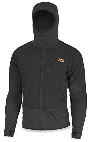 First Lite Men's Merino Wool Insulated Sawtooth Hybrid Jacket, Black, Small