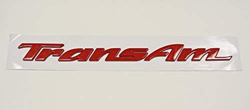- Pontiac Firebird Trans Am Door Letters RED