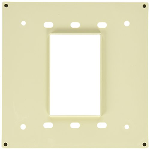 Leviton 3254-I Four-In-One Adapter Plate. To Be Used with Cat 1254 and 21254 Only - Ivory