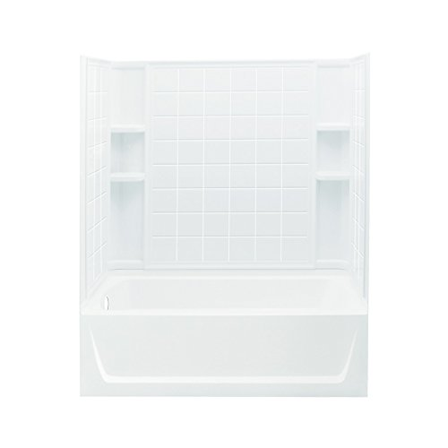 Sterling Plumbing 71120112-0 Ensemble Bath and Shower Kit, 60-Inch x 32-Inch x 76-Inch, Left-Hand, White by Sterling Plumbing