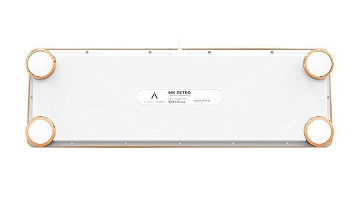AZIO Vintage Inspired Mechanical Keyboard MK-RETRO-02 (White / Gold) 4