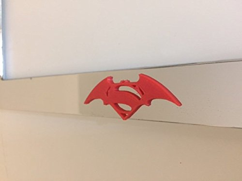 (Superman Meets Batman Hybrid - Chrome with RED 3d Version Motorcycle / Scooter License Plate Frame - Love Dogs Pit Bull)