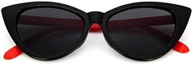 ヴィンテージキャットアイ女性サングラスクラシックセクシーなサングラスレディースPCフレーム樹脂レンズ旅行UV400メガネメガネ明るい黒&赤脚