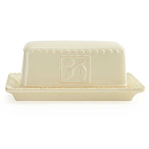 Signature Housewares Sorrento Collection Butter Dish, Ivory