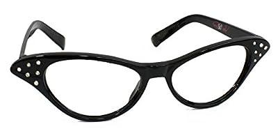 Hip Hop 50s Shop Womens Cat Eye Rhinestone Glasses