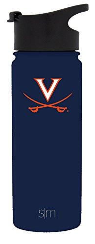 Virginia Cavaliers University - Simple Modern 18oz Summit Water Bottle - Virginia Cavaliers Vacuum Insulated 18/8 Stainless Steel Travel Mug - Virginia