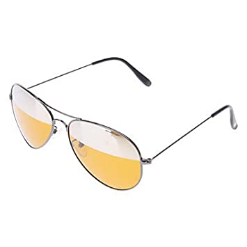 Wohai Gadget Mall - HONGLANG Amarillas de resina lentes polarizadas gafas de sol de montura negra
