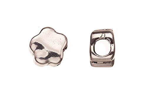 Hammer-tone Star Star Leather Cord Charm Antique Silver-plated Fits 6mm Cord, 13x10mm