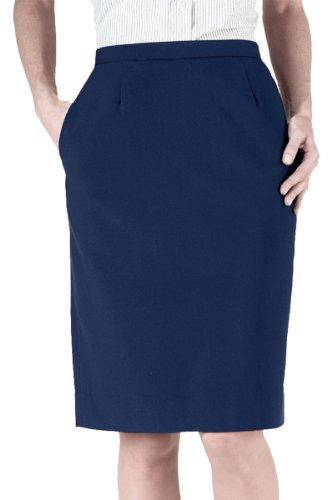 - Edwards Garment Women's Waistband Straight Skirt, Navy, 0 R