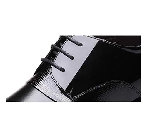 A Sandali Colore Scarpe Tondo Morbido in Black Tela Uomo Pelle Casual Sportivi Punta Stagione Affari Nastro Stivali T0SPx