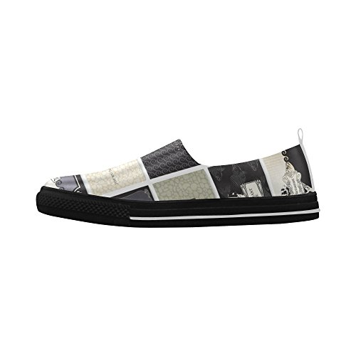 D-story Custom Anchor Ship E Skull Slip-on In Microfibra Scarpe Da Uomo Sneaker