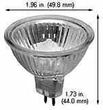 Halogen Ceiling Lights FMW/24V/CG 35W 24V MR-16 (Case of 15)