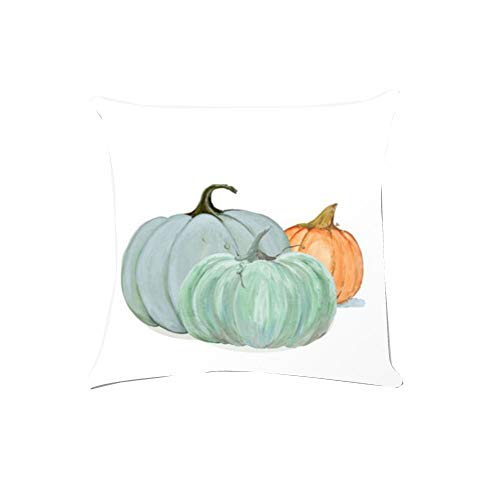 WFeieig_Halloween Soft Cozy Velvet Throw Pillow Solid Square Cushion Cover Black]()