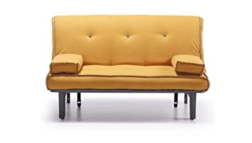 Sofa Cama 140 cm. tipo futon Color Naranja: Amazon.es: Hogar