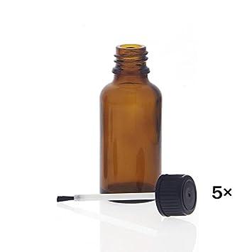 Tupflack Flasche Tupflackflasche Pinselflasche Pinselfl/äschchen 50 ml 10 ohne Inhalt *