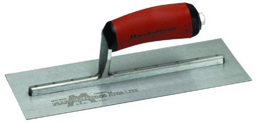 MARSHALLTOWN The Premier Line MXS1D 11-Inch by 4-1/2-Inch Finishing Trowel with Curved DuraSoft - 11