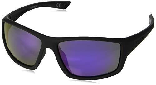 Body Glove FL 21 Smoke with Purple Mirror Sunglasses, Rubberized Black