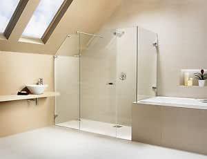 Marco de cristal amortiguador anticaídas diseñado para mampara de ducha de menos - hecha a medida hasta 900 mm de ancho: Amazon.es: Bricolaje y herramientas