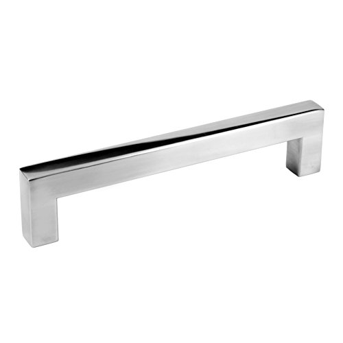 5'' Square Bar Pull Kitchen Cabinet Hardware Stainless Steel 12mm Handles (5'' Polished Chrome, 25 Pack) by Celeste Designs (Image #1)