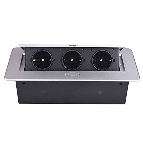 Placa de aleación de zinc 16A Slow POP UP 3 Potencia Socket de la ...