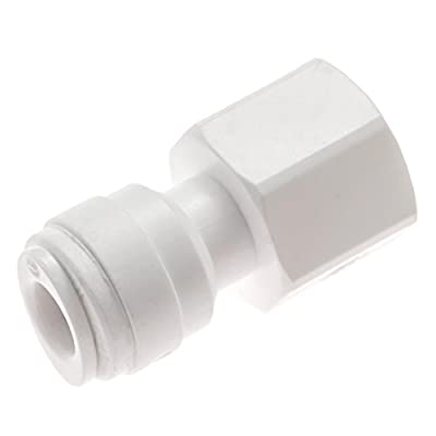 """Avanti Membrane Technology Drinking Water Faucet Connector - 1/4"""" tube OD x 7/16""""-24 UNS, quick-connect fitting & thread - QF-FF04"""