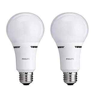 Philips LED 472464 50-100-150 Watt Equivalent 3-Way Frosted A21 Energy Star Certified LED Light Bulb in Frustration-Free-Packaging (2 Pack), 2-Pack, Soft White, 2 Count