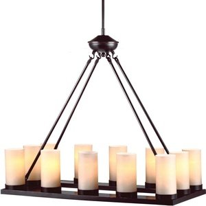 Sea Gull 31588-710 Lighting Ellington 12-Light Burnt Sienna Single Tier Chandelier, 1-Pack