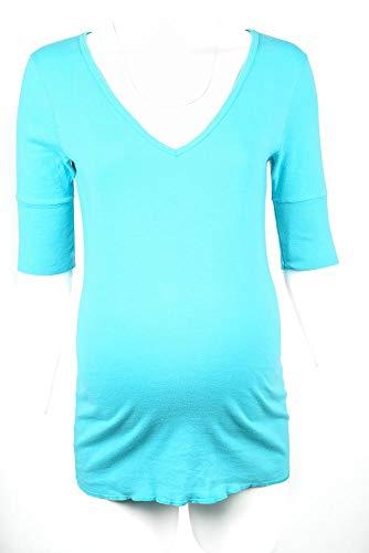 - Michael Stars Maternity Wipeout Blue OSFA Deep Vneck tee Shirt top