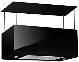 Campana extractora campana negra para cocina a Isla pantalla Touch luz LED 75 x 35 cm: Amazon.es: Hogar