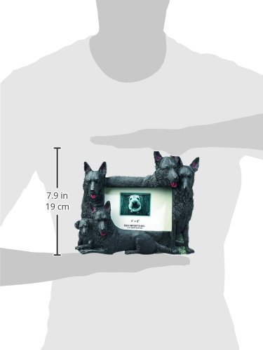 Black German Shepherd Gift Picture Frame Holds Your Favorite 3x5 Inch Photo, A Hand Painted Realistic Looking Black German Shepherd Family Surrounding Your Photo. This Beautifully Crafted Frame is A Unique Accent to Any Home or Office. The Black German Sh by E&S Pets
