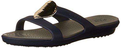 Crocs Women's Sanrah Embellished Sandal Navy/Silver