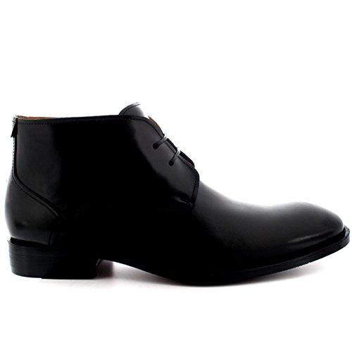 Chukker Cuero Desierto Zapatos Hombre Teddy Tobillo Media Queensbury Estilo Completo Caña Negro Botas El Británico YxFZwAwqH