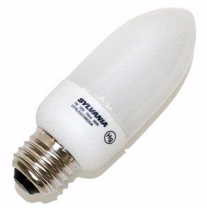 Sylvania 29167 - CF7EL/DECO/MEDIUM/1/BL Torpedo Screw Base Compact Fluorescent Light Bulb