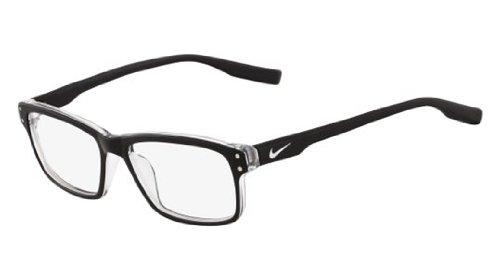 Nike Eyeglasses 7231 001 Shiny Black Demo 53 16 by NIKE