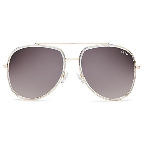 Quay Needing Fame Sunglasses | Oversized Aviator Frames | UV - Protection Australia Sunglasses Uv