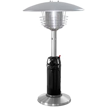 AZ Patio Heaters HLDS032 BSS Portable Table Top Stainless Steel Patio Heater,  Black Finish