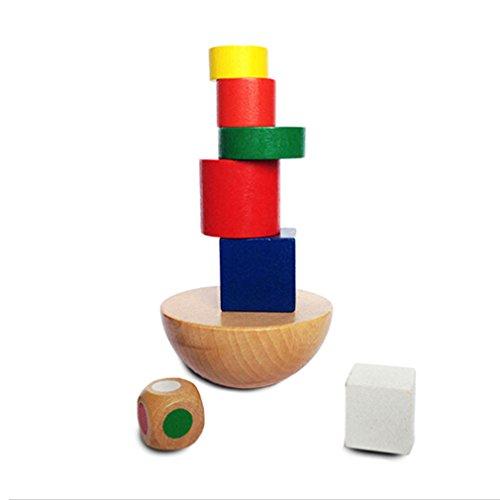 Honel 知的玩具 バランス 立体パズル 倒れない作る おもちゃ