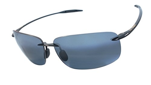 Maui Jim 422-02 Breakwall Pc-pg 100% Authentic Men's Polarized Sunglasses Gloss Black - Price Sunglasses Mj Sport