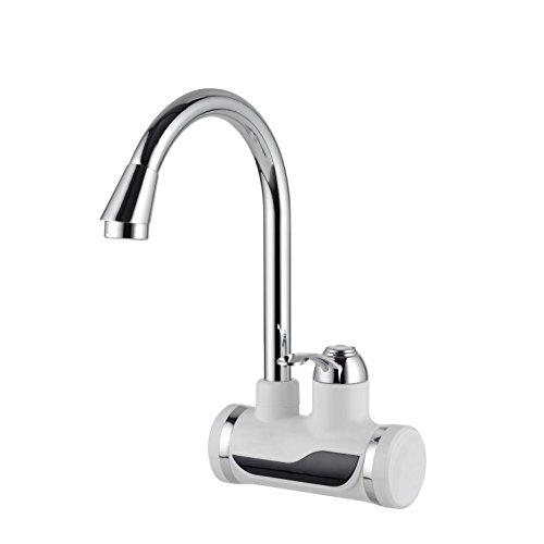 Agua caliente instantánea Grifo Dual Caliente y Fría Calentador de agua eléctrico Calentamiento de agua Instantáneo Calentador Grifo eléctrico Grifo de ...