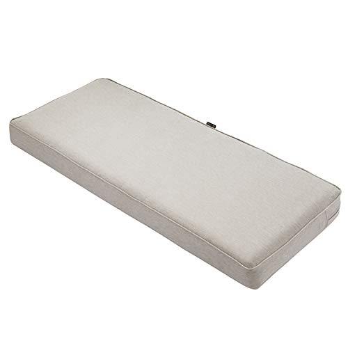 Classic Accessories Montlake Bench Cushion Foam & Slip Cover, Heather Grey, 48x18x3