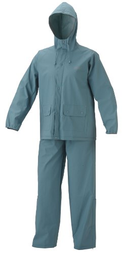 Coleman Womens PVC|Poly Rain Suit, Light Blue, Medium