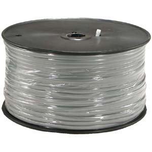 InstallerParts 1000 Ft 6 Conductor Silver Satin Modular Cable Reel 28AWG by InstallerParts