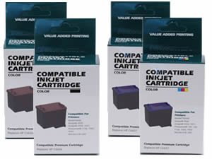 Compatible Ink Cartridge Replacement for HP 56 HP 57 C6656AN C6657AN (2 Black 2 Color) 4 Pack